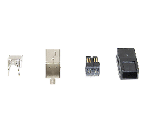 1394 FireWire 9 Pin Assemblable DIY Connector Plug Kit