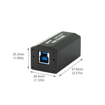 FireNEX-uHUB-2P USB 3.0 B port side