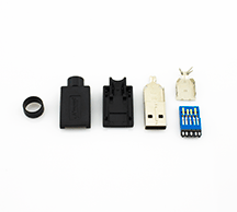 USB 3.0 Type A Assemblable DIY Connector Plug Kit
